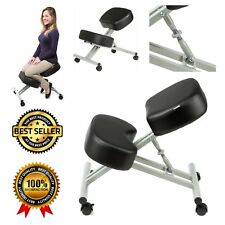 PU Leather Kneeling Chair Double Thick Padding Ergonomic Mobile Adjustable Stool