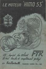 Notice moteur HIMO 53 FTK  cyclomoteur auxilliaire velo