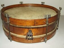 """antik dreißigern rogers 12"""" holz snare drum mit wood hoops & nickel flügelschraube kabelschuh"""