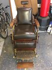 Antique Theo Kochs Vintage Wooden Barber Chair Age Is Early 1900s To Late 1800s