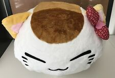 FuRyu Nemuneko Kanoko with Red Ribbon Head Stuffed Plush - White
