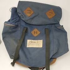 Leather Rucksack Vintage Class-5 Mountaineering Backpack Camping School Bag Pack
