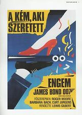 "2002 Vintage JAMES BOND ""THE SPY WHO LOVED ME"" HUNGARIAN MINI POSTER ART Litho"