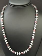 Navajo Pearls Purple Spiny Oyster Bead Necklace 20 Inches