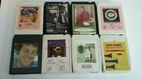 VINTAGE 8 Track tape lot of 8 TAPES ~UNTESTED SOLD AS IS~