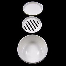 Portable rond savon cas récipient hermétique savon plateau voyage accessoire blanc