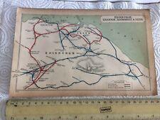 GRANTON PORTOBELLO NIDORIE HAYMARKET LEITH NEWINGTON EDINBURGH RAILWAY MAP 1905