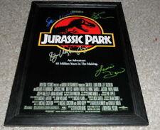 "Jurassic Park PP Signed & Framed 12""x8"" A4 Photo Poster Sam Neill Jeff Goldblum"