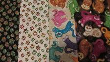 Quilt fabric - Folk Art Cats - Dan Morris - 3-1/2 yards