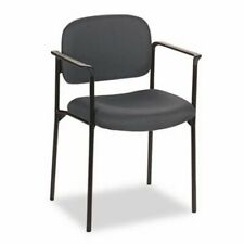 Basyx Vl616 Stacking Guest Chair With Arms Charcoal Gray Bsxvl616va19