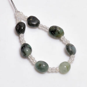 """100% Natural Emerald Mix Shape Smooth Style Beads 6X5 7X4 mm Strand 3"""" NW-4683"""