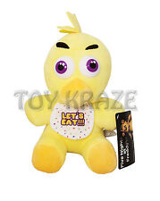 "FIVE NIGHTS AT FREDDY'S PLUSH - SMALL YELLOW CHICKEN SOFT DOLL 9"" NEW [CHICA]"