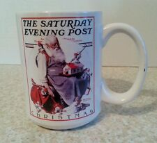Collectible Norman Rockwell Saturday Evening Post Coffee Tea Cup Mug Christmas