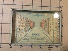 Original Vintage dexterity puzzle -- BLACKOUT war puzzle - made in USA, WWII ERA