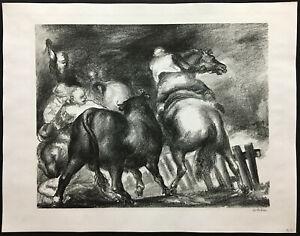 WPA ERA 1936 Lithograph ~ JON CORBINO ~ Signed Regionalist MUSEUM PIECE