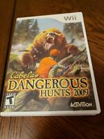 Cabela's Dangerous Hunts 2009 Nintendo Wii Complete CIB (NO GUN) FREE SHIPPING