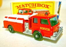 """MATCHBOX RW 29c Denver Fire Pumper come nuovo in """"e1"""" BOX"""