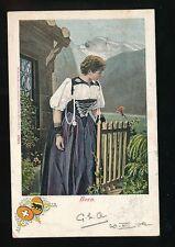 Switzerland BERN traditional dress fashion costume c1900/10s? 1902 u/b PPC