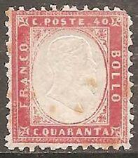1862 ITALIE rose 40 C Perf 11 1/2 x12 SG 3 MH/* (Cat £ 375)
