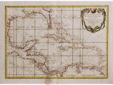 Golfe du Mexique et de ses isles Old map Rizzi Zannoni  1778