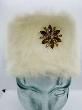 Vintage 1960s MISS DIOR by CHRISTIAN DIOR Rabbit Fur Pill Box Hat w/ Hat Pin