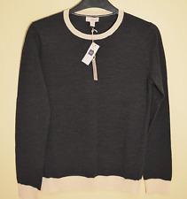 New! Gap women's grey contrast jumper - XS - extra fine merino wool knit sweater