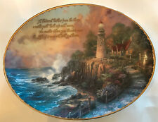 """Thomas Kinkade's Guiding Lights Plate-First Issue """"The Light Of Peace�"""