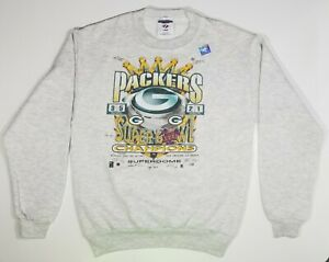 NEW Vintage 90s NFL Green Bay Packers Super Bowl Youth L Sweatshirt Brett Favre
