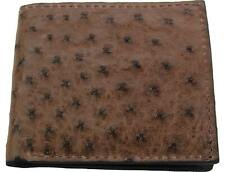Brown Ostrich Bifold Wallet Quality Usa Handcrafted