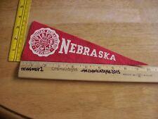 "10"" University of Nebraska Cornhuskers mini pennant 1970s vintage"