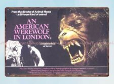 An American Werewolf In London horror sci fi movie poster metal tin sign design