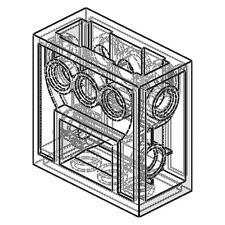 Lego Gearbox REDUCER Block (technic,mindstorm,ev3,robot,wormbox2x4x3,robot6588)