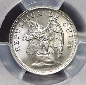 Chile 1938 5 Centavos Andean Condor animal PCGS MS65 PC0695 combine shipping