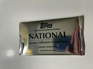 2021 Topps National Convention - Sealed Wrapper Redemption Silver Pack