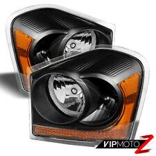 2004-2005 Dodge Durango SLT Limited Black Front Headlights Headlamps Assembly