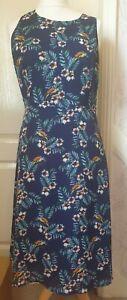 SUGARHILL BOUTIQUE Size 14 Black Floral/Bird Sleeveless Midi Dress- Summer  Wear