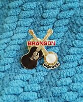 "BRANSON MISSOURI Country Music Guitar Banjo 1"" Souvenir Lapel Pin Collector"