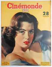 ►CINE MONDE 896/1951-FAITH DOMERGUE-ARLETTY-GRETA GARBO-INGRID BERGMAN-PIAF...