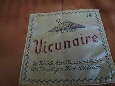 Classic hand made Vicunaire 10% Vicuna Belted polo style Top coat 50 R