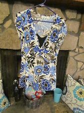 Women's Dress Size M Blue Royal Blue Black Brown White Cute Style CATO Tunic