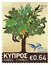 CYPRUS, EUROMED 2017 - TREES OF THE MEDITERRANEAN STAMP, MNH, 2017