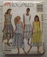 Dress Sewing Pattern*McCalls 5453*PLUS SIZE*Sizes 20-24*UNCUT/FF*sundress
