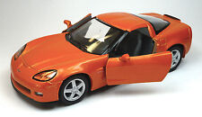 2007 Chevrolet Corvette C6 Z06 orange Sammlermodell 1:36 von KINSMART Neuware!
