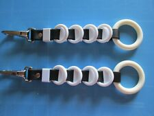 Harness Spreaders 5 white ring and loop chrome snap pony driving team
