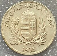 1938 BP Hungary 🇭🇺 Silver One PENGO Coin, Free Combined Shipping