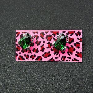 Betsey Johnson Fashion Rhinestone Green Frog Earring Women jewelry