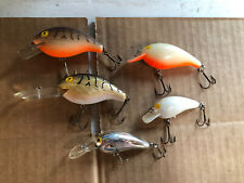 Lot of 5 Vintage Assorted Rebel Deep R Norman Unbranded Crankbait Fishing Lures