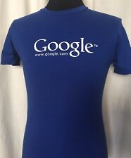 Google T Shirt Men's Small Blue White Google Logo Cotton