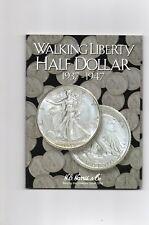 1-H.E. HARRIS COIN FOLDER,WALKING LIBERTY HALF DOLLARS 1937-1947, NEW ALBUM, A-1