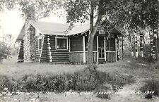 A View of The Birches Cabin, Cedar Spring Resort, Curtis MI RPPC